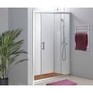 מקלחון חזית קבוע ודלת הזזה 125 ס''מ עד 130 ס''מ