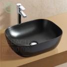 Sebach כיור לאמבטיה חרס מונח זיו שחור מט - רוחב 50 ס''מ   עומק 40 ס''מ