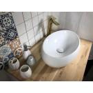כיור לאמבטיה חרס מונח שרון - רוחב 48.5 ס''מ | עומק 34 ס''מ