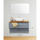 ארון אמבטיה תלוי אפוקסי טרווזו