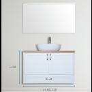 """ארון אמבטיה תלוי אפוקסי אסטי 60 ס""""מ"""