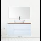 """ארון אמבטיה תלוי אפוקסי אלבלי 150 ס""""מ"""