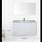 """ארון אמבטיה תלוי אפוקסי מראנו 110 ס""""מ"""