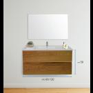 """ארון אמבטיה תלוי אפוקסי קארפי 60 ס""""מ"""