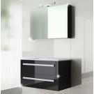 ארון אמבטיה תלוי דגם ניקול 100 ס''מ כולל כיור ומראה