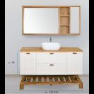 """ארון אמבטיה עומד אפוקסי פלאו 130 ס""""מ"""