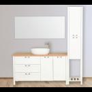 ארון אמבטיה עומד אפוקסי מוסקו כולל אופציה לכיור ומראה