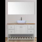 ארון אמבטיה עומד אפוקסי אנדריה כולל אפשרות לכיור ומראה