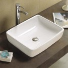 "Sebach כיור לאמבטיה חרס מונח אורן רוחב- 48 ס""מ עומק 39 ס""מ"