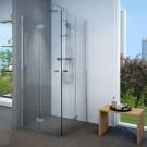 מקלחון פינתי מרובע הרמוניקה מתקפל 100*100 מידה מיוחדת SELAQUA