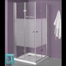 מקלחון פינתי מרובע הרמוניקה דלתות מתקפלות 80X90 דגם לופיס