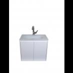 """ארון אמבטיה תלוי כולל כיור זכוכית דגם שנהב 60 ס""""מ עומק 39"""