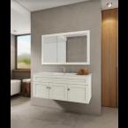 מלאי מוגבל!! ארון אמבטיה תלוי כולל כיור דגם אלבה 100 ס''מ ארון 100% סנדוויץ מלא!