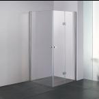 מקלחון פינתי מרובע צד אחד הרמוניקה מתקפל צד שני דלת דגם שרון