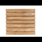 משטח עץ TEAK מלבני 76 ס״מ עם 7 שלבים