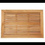 משטח עץ מלבני 90 ס״מ עם מסגרת ותמיכה כפולה עץ טיק מלא