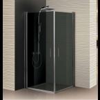 מקלחון פינתי 2 דלתות,זכוכית כהה