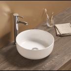 כיור לאמבטיה חרס מונח ענפה מעוטר חיצוני - קוטר 38.5 ס''מ