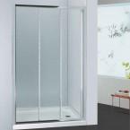 מקלחון חזית קבוע ושתי דלתות הזזה 80-90 ס''מ SELAQUA