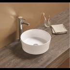 כיור לאמבטיה חרס מונח עגור מעוטר חיצוני - קוטר 38.5 ס''מ