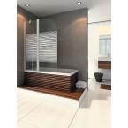 אמבטיון קבוע ודלת דגם דאלי 120 ס''מ