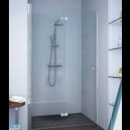 מקלחון חזיתי דלת הרמוניקה מתקפלות ונצמדות לקיר