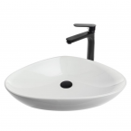 כיור לאמבטיה חרס מונח לבן מבריק - רוחב 59 ס''מ עומק 39 ס''מ