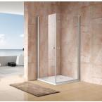 מקלחון פינתי 2 דלתות נפתחות 80/70 מידה מיוחדת