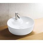כיור לאמבטיה חרס מונח ענבר לבן - קוטר 45 ס''מ