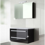 ארון אמבטיה תלוי דגם ניקול  60 ס''מ כולל כיור ומראה
