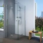 מקלחון פינתי מרובע הרמוניקה מתקפל 90*100 מידה מיוחדת SELAQUA