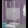 מלאי מוגבל! מקלחון פינתי מרובע הרמוניקה מתקפל דגם לופיס 86185